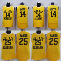 Wholesale WILL SMITH BEL AIR Academy Jersey CARLTON BANKS Men s Stitched Embroidery Logos Basketball Jerseys Mix Order