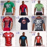 armor shirts men - LJJM228 Marvel Superhero Punisher Captain America T shirt Men Armor Short Sleeve Quick dry Costume Under Outdoor Gym Sport Fitness t Shirt