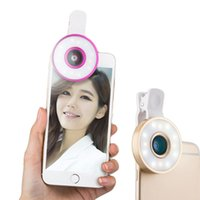 Wholesale 6in1 Fisheye Wide Angle Macro Lens Olho de Peixe with12 LED Flash Light for Mobile Phone xiomi Huawei iphone selfi Fish Eye lens