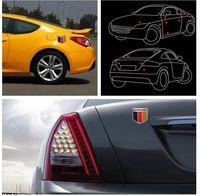 auto cars germany - 2016 Brand New x5cm Car Aluminum German Germany Flag Shield Emblem Badge Truck Auto Decals Sticker