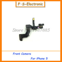 For Apple iPhone Bar For iPhone 5/5s/5c 10pcs lot High Quality Front Camera with sensor Flex Cable for iPhone 5 5s 5c Replacement parts Mobile phone flex cable Ribbon free shipping