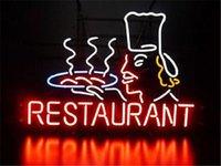 Wholesale 2016 LED Restaurant Real Glass Neon Light Signs Bar Pub Restaurant Billiards Shops Display Signboards quot x14 quot
