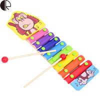 Wholesale 2015 Hot Sale Baby s Early Educational Musical Toys Animal Scales Piano Wooden Toys Best Gift For Childre HT2735
