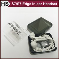Wholesale OEM Samsung S7 Edge Headset In ear Earphone Earbud mm With Mic Remote Control For Samsung Galaxy S6 S7 Edge Plus Note