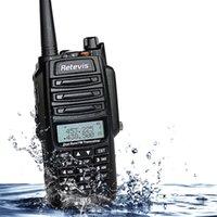 band dust - Retevis RT6 IP67 Waterproof Anti dust Handheld Walkie Talkie Dual Band W VHF UHF Mhz Mhz FM Radio Two Way Radio A9114A