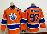 Wholesale 2016 New Kids Hockey Jerseys Oilers McDavid Jersey C Patch Orange Color Youth Jersey Size S M L XL Mix Order Stitched All Jerseys