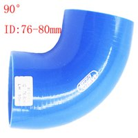 Wholesale Blue Samco ID mm mm ID quot quot Silicone Degree Elbow Reducer Turbo Pipe Hose Air Intake Pipe Intercooler silicone pipe Universal