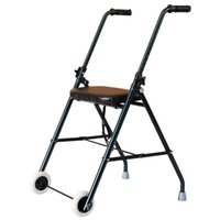Wholesale 4 quot Wheel Medical Rollator Lightweight Padded Seat Fold Support Aluminum