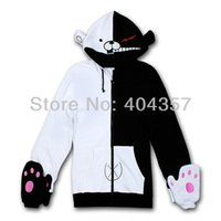 Wholesale Dangan Ronpa Mono bear Monokuma Black White Bear Anime Cosplay Costume Jacket Hoodie