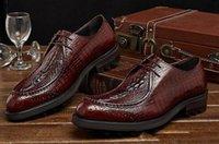 basic shoe design - fashion Italian luxury men shoes genuine leather brown black crocodile dragon head design basic flats