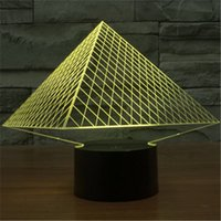 architectural lamps - 3D Eiffel Tower Architectural Icon Acrylic Visual Light LED Lamp Home Table Decoration Lamps Bedroom Night Light D TD68