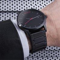 auto calendar clock - 2016 MVMT Hot Brand Men Watches New Cool Men Luxury All stainless steel clock calendar Military Sport Quartz Watches Business relojes