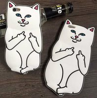 bad covers - RIPNDIP Pocket Cat Silicone Cell Phone Case Middle Finger Bad Cat iphone case cover For iPhone s s quot Plus quot D528