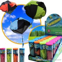 Wholesale 1 Hand Throwing kids mini play parachute toy soldier Outdoor sports Children s Educational Toys