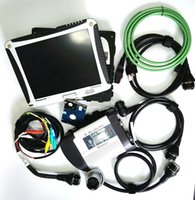 Wholesale High Quality MB STAR C4 Software v with Panasonic cf19 laptop mb sd connect compact for Benz Car DHL