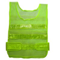 Wholesale Visibility Security Safety Mesh Vest Traffic Reflective Stripes Waistcoat Jacket Clothes Green Size cm