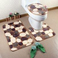 bath room sets - 2016carpet recycle dining room carpet contour lid cover set microfiber tapis pieces bath rug sets