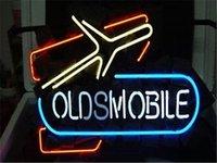 auto led shop - 2016 LED Oldsmobile Auto Real Glass Neon Light Signs Bar Pub Restaurant Billiards Shops Display Signboards quot x14 quot