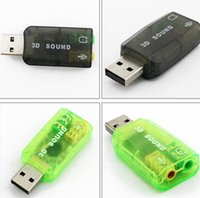 Wholesale Hot sale Mic Speaker USB D Sound Card Audio Adapter Virtual Channel for PC or Laptop free drive support WIN7