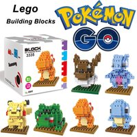 Wholesale 2016 ZMS Pokémon go Diamond particles Blocks Building blocks assembled Children s educational toys Pikachu Eevee Mewtwo Charmander style