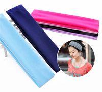 Wholesale Women Yoga Sports Sweatband Headband Elastic Hair Band Accessories Children Plain Wide Hair Band Girls Accessorie Hair
