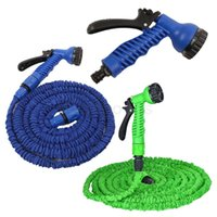 Wholesale Expandable Magic Hose Garden Water Car Wash Hose Spray Gun Wash Pipe Rubber Retractable Real Watering Expandable Hoses With Retail Box