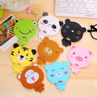 Wholesale Cute Animal Mirror Brand New Cartoon Little Mirror Multifunctional Cellphone Holder With Phone Holder and Comb in One Set Mirrror