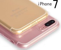 Wholesale Transparent Clear Crystal Case For iPhone Plus Soft Rubber Bag Cases Luxury TPU Silicone IPHONE7 Phone Cover