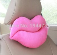 automotive headrest - by China Post Creative Red Big lips shape Car Seat Neck Rest Belt Headrest Pads Nap pillow Cute Automotive occipital