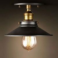 antique ceiling light fixture - Loft Vintage Ceiling Lamp Round Retro Ceiling Light Industrial Design Edison Bulb Antique Lampshade Ambilight Lighting Fixture