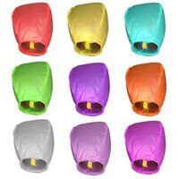 DHL Sky Lanternes papier chinois Sky Bougie Fire Balloons Birthday Party Wedding Pageant UFO Outdoor Holiday Lighting ZJ-L02