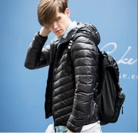 Wholesale Fall men s ultra light down jacket winter duck down jackets men loose fit thin long sleeve parkas hooded zipper coats plus size