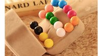 Wholesale Hot Sell Mix Colors High Quality Sided Pearl Earrings Stud Earrings Pearl Stud Earrings for Women