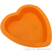 Wholesale heart silicone cake mould chocolate candy mold ice maker fondant pan baking tray cake supplies cooking tools BPA free MS012