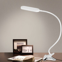 Wholesale Adjustable Eye Protection W USB LED Clip Table Lamp LED Flexible Table Light Desk Light with Touch Sensor Reading Lamp Desktop