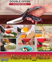 Wholesale DY381 Trendy Clever Cutter in Knife Cutting Board Scissors Steel Kitchen Food Cutter for Meat Vegetable