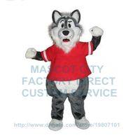 big bad wolf costume - New big bad grey wolf Cartoon Mascot Costumes Custom Made Christmas Doll Plush fancy dress for carnival