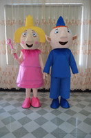 ben movie - ben and holly mascot costume for adults two pieces together fancy party dress suit carnival costume with