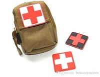 Wholesale VP D PVC Rubber Red Cross Patches Medic Paramedic Tactical patch Military patches Tactical Forest Morale Patch
