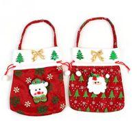 Wholesale Christmas Gift Candy Bag Santa Snowman Design Christmas Decoration for kids New