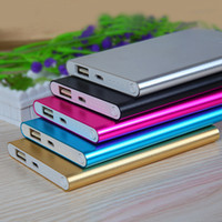 Wholesale Factory Promotion Ultra thin slim powerbank mah power bank for mobile phone Tablet PC External battery Fedex UPS Fast