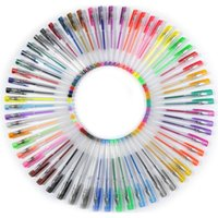 Wholesale 100 Colored Not Repeating Gel Pens with Case Extra Large Set