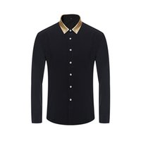 Wholesale Men Dress Shirts Europe Size New Arrivals Stylish Slim Fit Male Shirt Solid Long Sleeve British Style Men s Shirt W295
