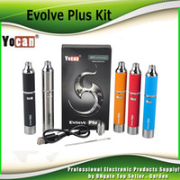 Wholesale Original Yocan Evolve Plus Kit mAh Wax Vaporizer Starter Kit with Quatz Dual Coil genuine DHL Free