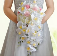angle suppliers - New Coming Beautiful White Big Wedding Bridal Bouquets Petal Flowers Adorned Angle Wedding Suppliers Artificial Flowers Bouquets