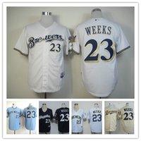 milwaukee - baseball jerseys Milwaukee Brewers Jersey WEEKS high quality baseball jerseys freeshipping