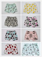 Unisex adorable baby animals - Summer INS Baby Kids Shorts Adorable Bloomers Harem Pants Infant Toddlers Cotton Fox Tent Lemon Feather Short Trousers Boys Girls Pants