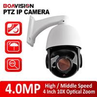 achat en gros de zoom mini caméra de sécurité-Zoom optique de sécurité H.265 HD 4.0MP 10X ONVIF P2P CCTV 4MP Mini High / Speed Moyen Dôme PTZ Caméra IP CMS extérieur / Navigateur / Mobile View