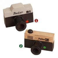 Wholesale Mini Seal Lovely Decoration Crude Wood Photo Camera Stamp Signet