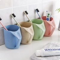 Wholesale New Toothbrush Holders contracted environmental protection plastic brush my teeth cup support high quality color